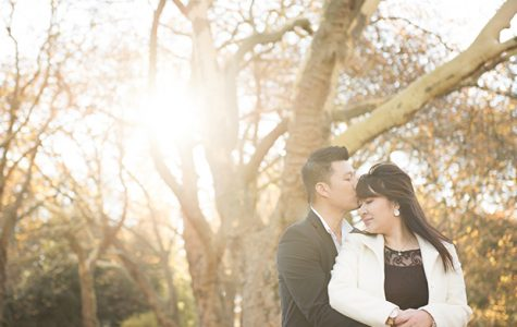 Stanley Park Autumn Sunset Engagement | Eunice and Thav