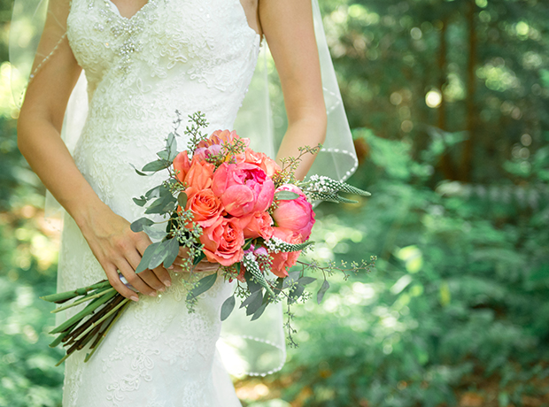 lestelle-coral-woodland-bridal-bouquet