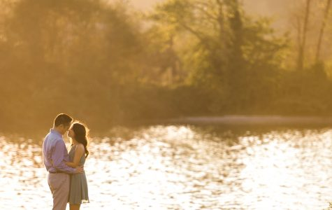 Sunset Engagement Session at Rocky Point Park | Jessica & Gabe