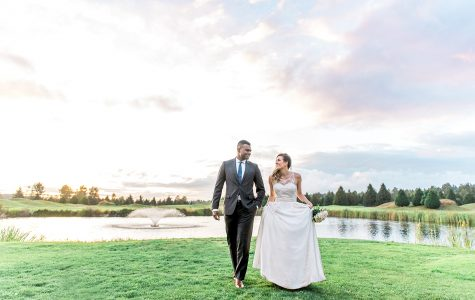 Sunset Wedding Reception at Riverway Golf Club | J+W