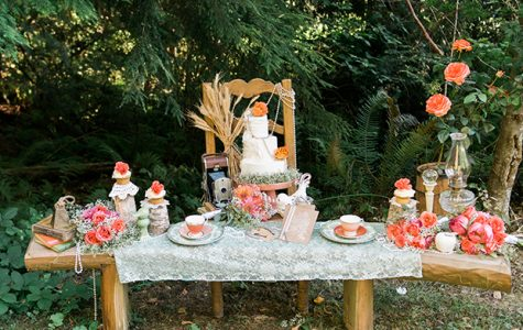 Featured on Multiple Online Wedding Magazines! - Coral Woodland Bridal Session