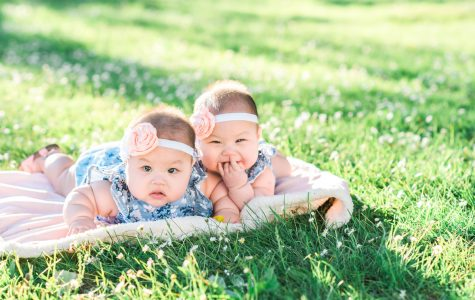 Cute Twin Girls Just Turned 6 Months