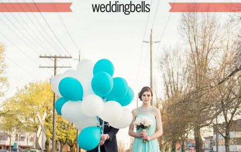 Published on Weddingbells -  Cherry Blossoms & Tiffany Blue Styled Session