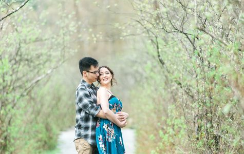 Beautiful Spring Engagement Session at Rocky Point | K+J