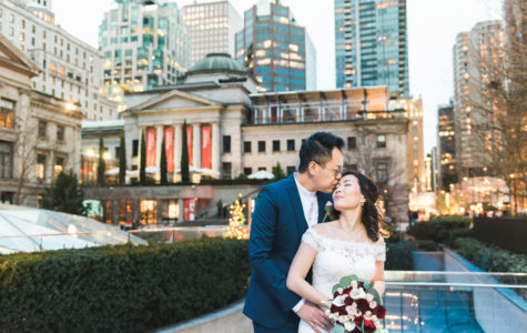 Winter Wedding at Downtown Robson and Shangri-La Hotel | J+B