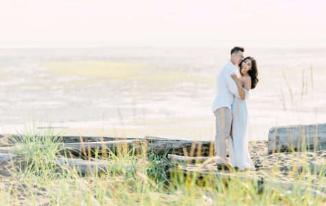 Beautiful Sunset Engagement at Iona Beach | K+D